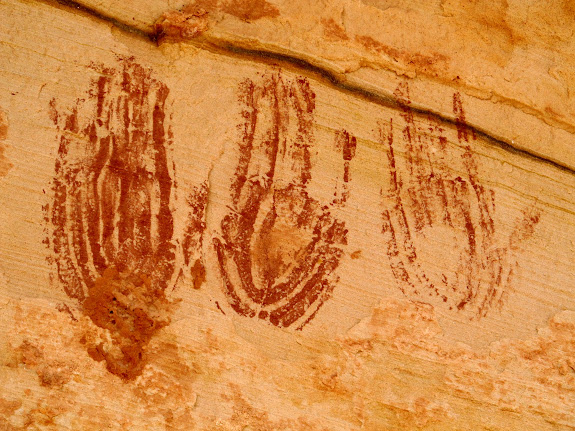 Handprint pictographs