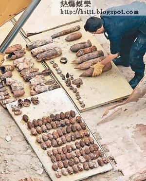 警方○六年時曾在深水埗東京街一個地盤發現大批軍火。