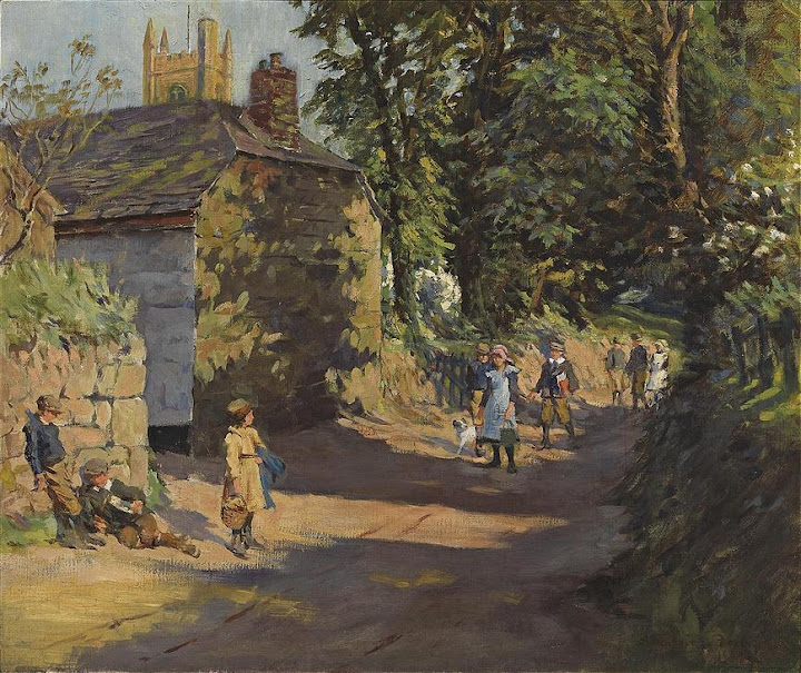 Stanhope Forbes - Going to School, Paul, near Penzance