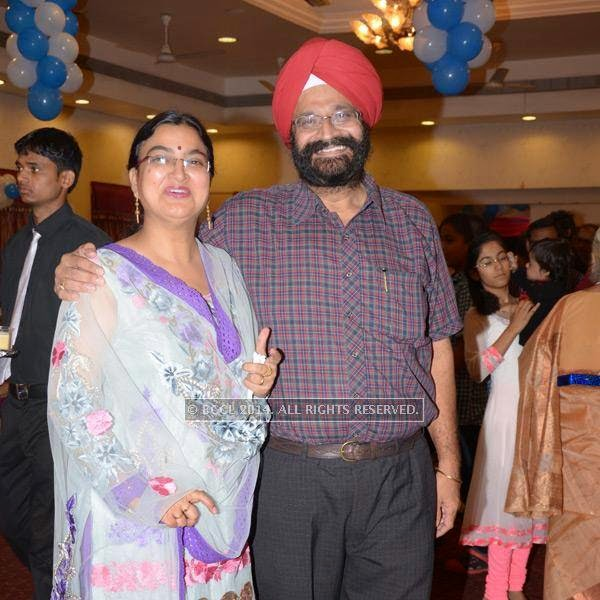 Simi and Tejinder Singh during Devaj Patel's birthday party, held in Nagpur.