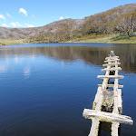 Timber platform on Rainbow Lake (97000)