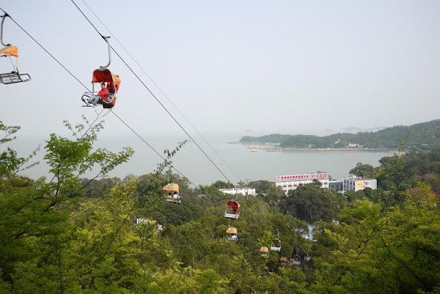 Chair lift at Jingshan Park in Zhuhai, China