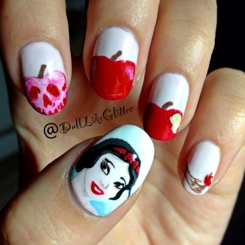 Saving The World One Nail At A Time Snow White Nail Art