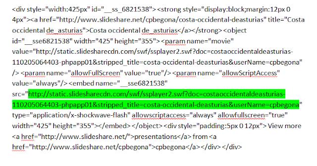 parte buena código slideshare