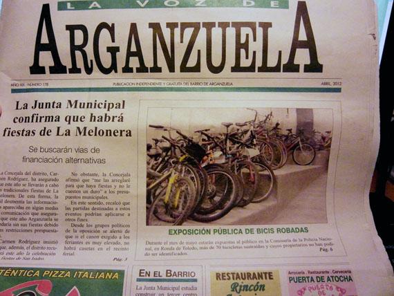 Exposición pública de bicis robadas