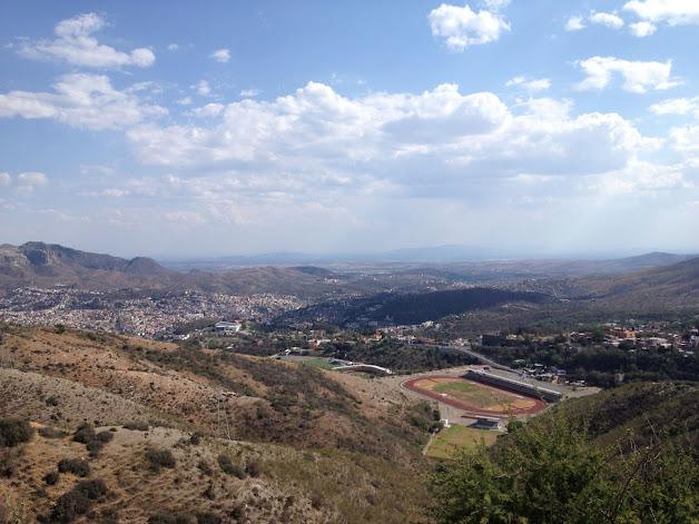 hillsides around Guanajuato, Mexico