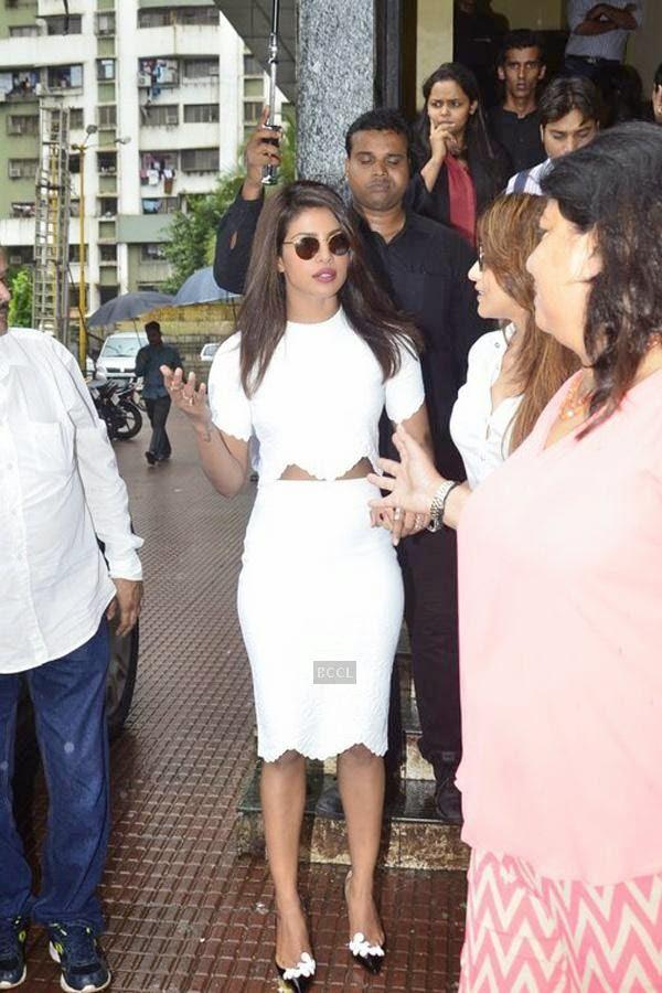Priyanka Chopra during the first look of film Mary Kom, held at PVR Citi Mall, in Mumbai. (Pic: Viral Bhayani)