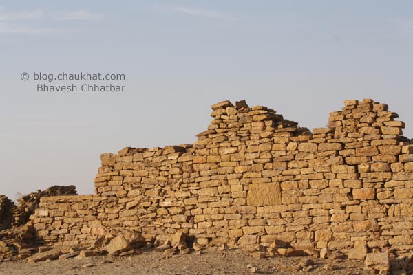 Kuldhara Village in Jaisalmer - Destroyed Wall