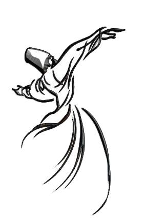 Silueta de un Derviche Danzante