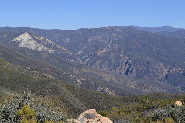 looking down over the Matilija drainage