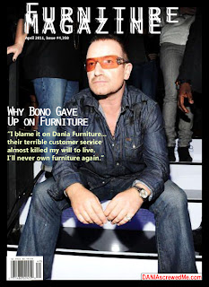 u2's bono on the cover of furniture magazine blaming dania for ruining his life
