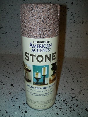 stone spray paint i used the color sienna stone i went over the. Black Bedroom Furniture Sets. Home Design Ideas