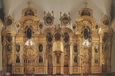 Иконостас Преображенской церкви в Таллине. 1718-1719. Общий вид