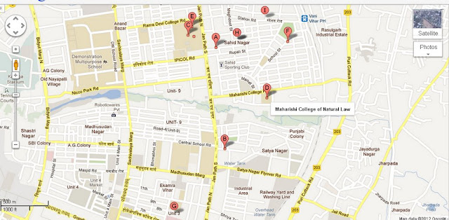 Maharishi College of Natural Law Bhubaneswar Area Map