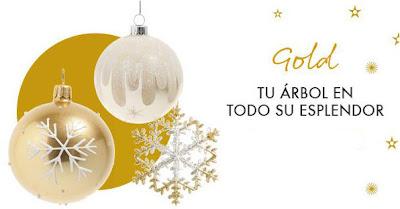 Decoración de Navidad dorada.