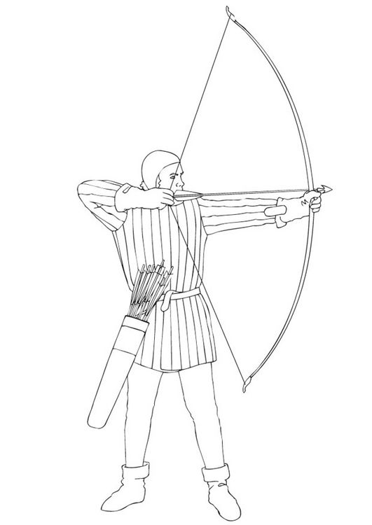medieval archer coloring pages
