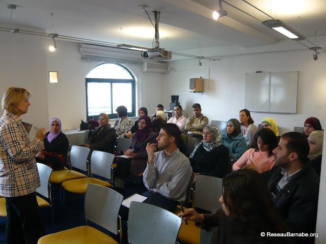 Formation au Centre culturel français à Ramallah le 6 avril 2009