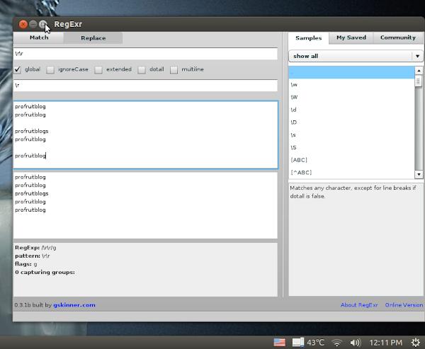 RegExr в Ubuntu 12.04