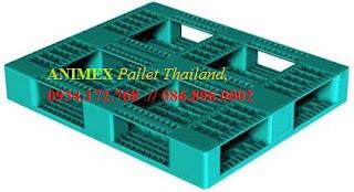 Pallet nhựa 6 thanh chặn ô cửa