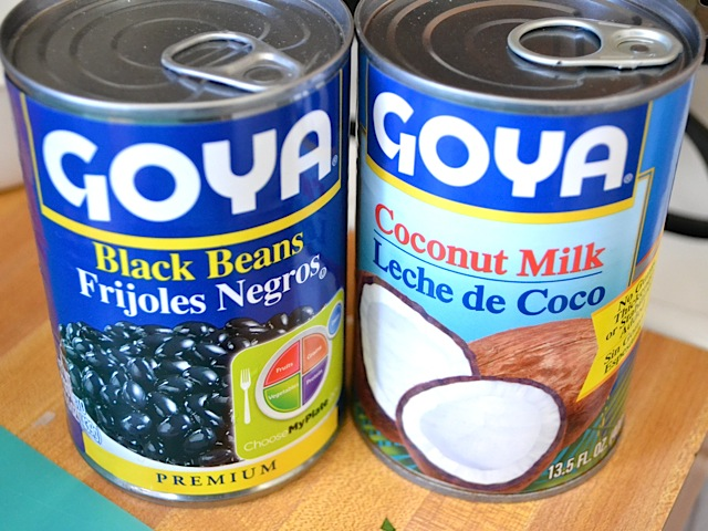 black beans coconut milk