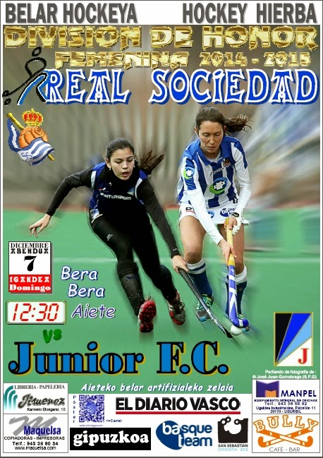 Póster hockey 2014-12-07 Real Sociedad - Junior F.C.