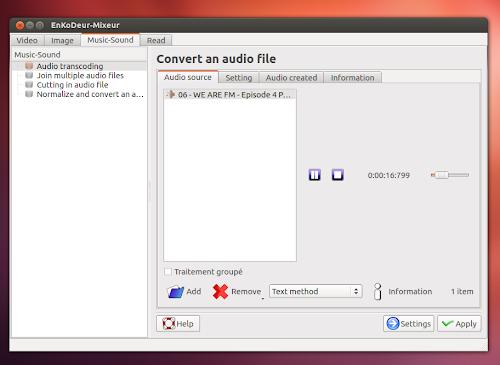 EKD  su Ubuntu 12.04 - audio