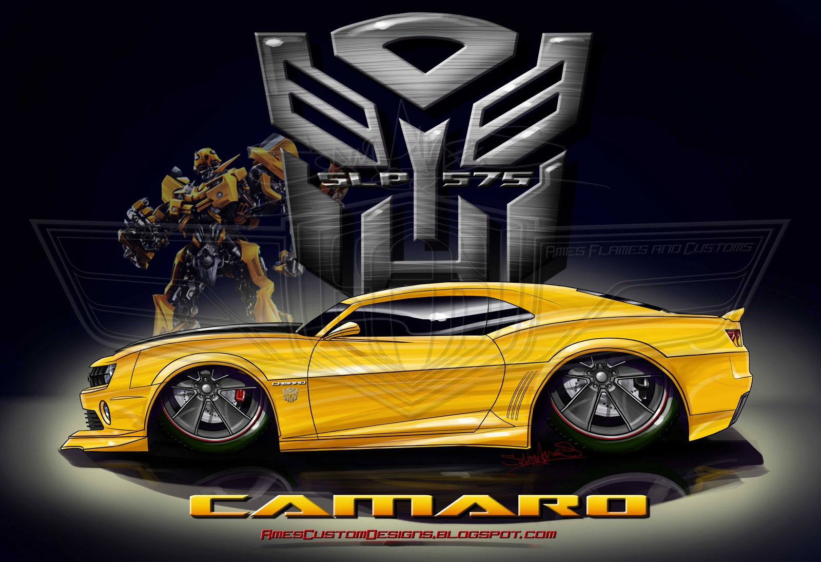 Sam Ames 2010 Camaro Bumblee Edition Transformers