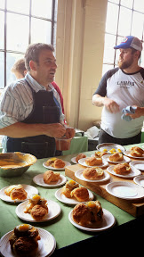 Chef Rick Gencarelli from Lardo of course brought the fat with a Pork Belly Egg Benedict with a buttery buttermilk biscuit, big hunk of pork belly, fried quail egg, and Frank's hollandaise. Portland Monthly's Country Brunch 2014 at Castaway benefiting Zenger Farm