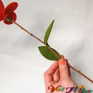 Bó hoa vải đẹp cho ngày lễ valentine (bước 5)