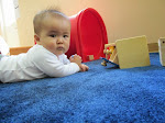 Our infants enjoy playing with their Montessori toys. Tummy time is fun, when it is this engaging!