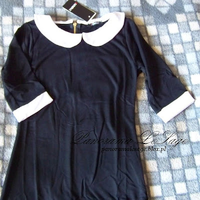 sukienka do ślubui skukienka z kołnierzykiem białym sukienka ślubna nietypowa sukienka czarny biały