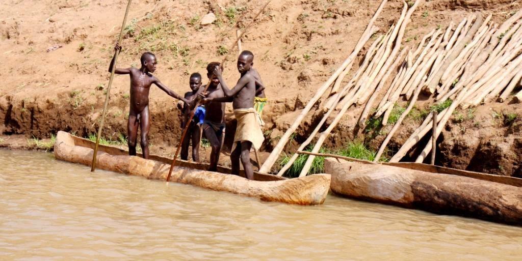 Omo upe,pietu Etiopija.Autorius:Tomas Baltusis