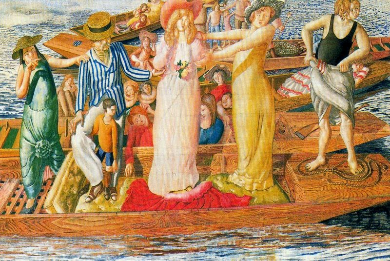 Stanley Spencer - Christ Preaching at Cookam Regatta, 1954
