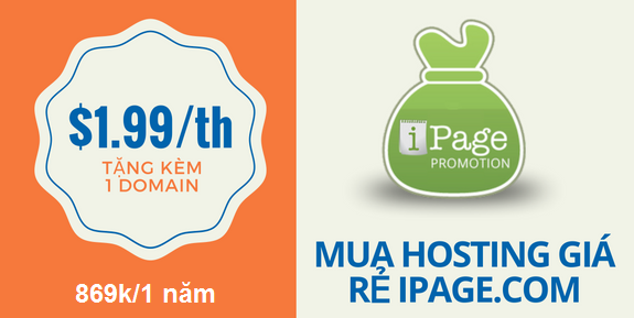 $1.9/mo Web Hosting from Ipage!