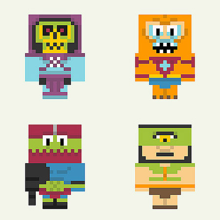 Pixelated Masters of the Universe Papercraft Evil Warriors Set