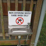 Water for washing hands only