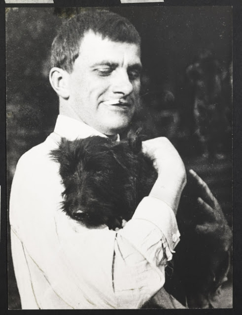 Vladimir Mayakovsky and a dog