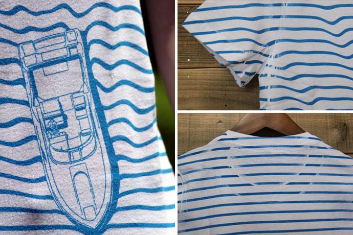 海とボートのボーダーT デザイン詳細