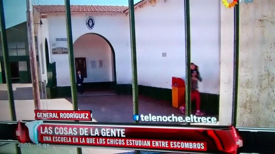 Rodríguez salió en Telenoche por reclamos de la Esc. N°6 a dos meses del incendio