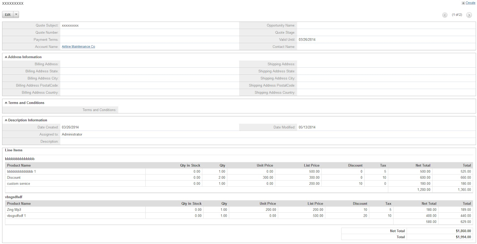 YouAddOn Sales Module for SugarCRM CE