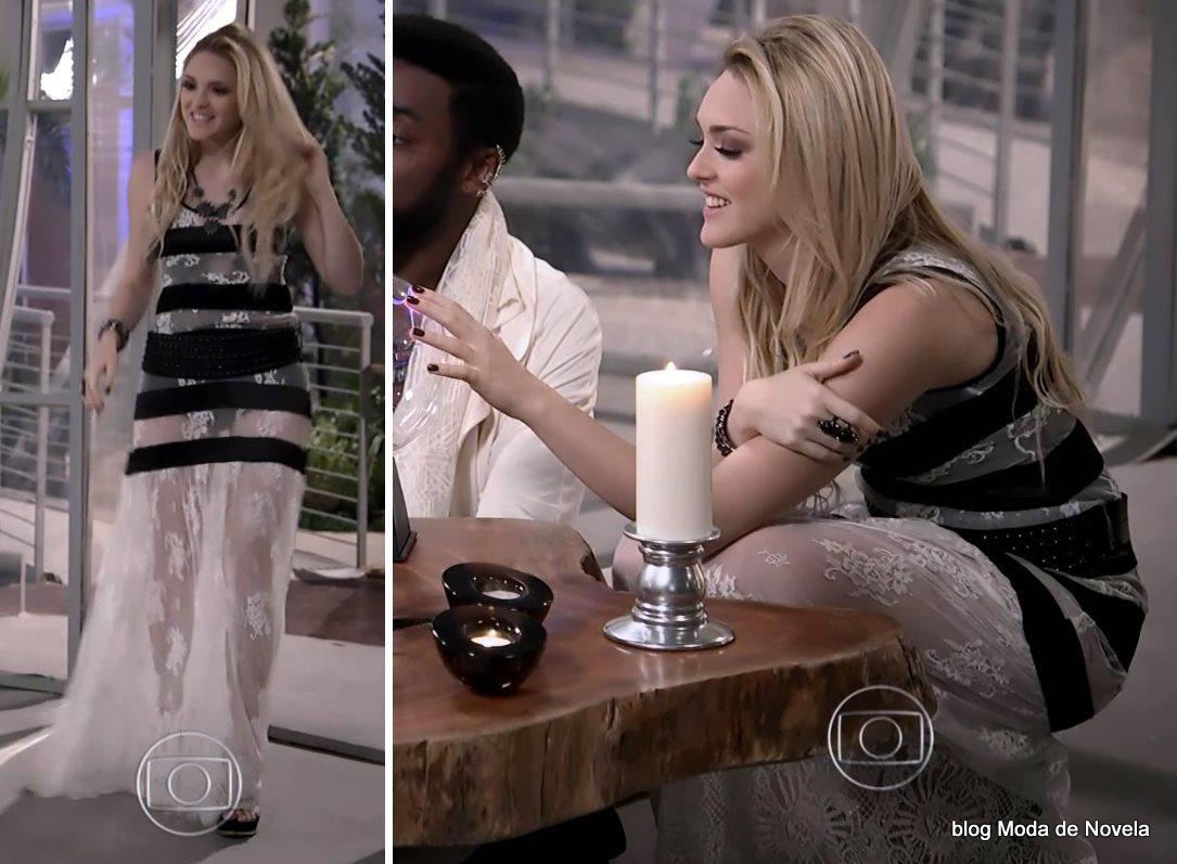 moda da novela Geração Brasil, look da Megan dia 8 de agosto
