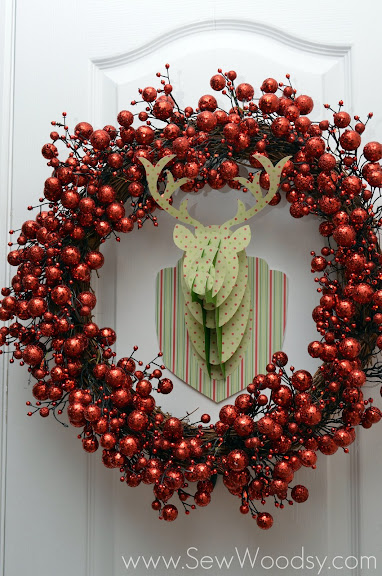 3D Rudolph Head from Cricut Craft Room