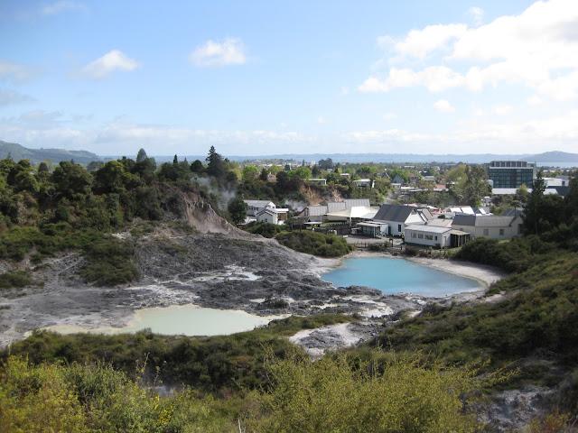 View over Whakarewarewa village