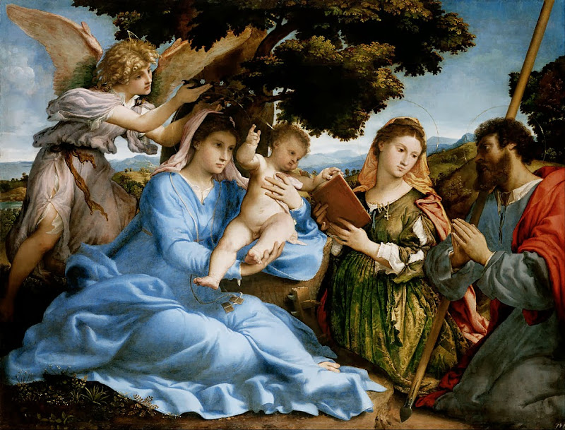 Lorenzo Lotto - Madonna and Child with Saints Catherine and Thomas (sacra conversazione) - Google Art Project