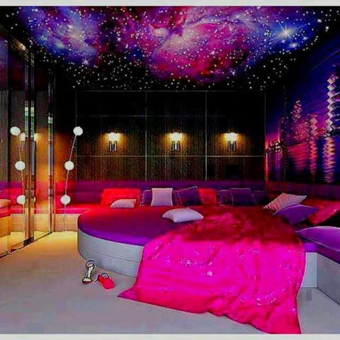 awesome bedroom design ideas teenage girls | Stylish girls: Awesome Galaxy Bedroom ideas