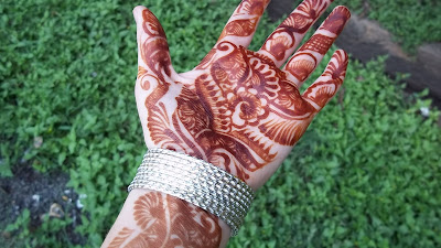 the mehndi i got in india