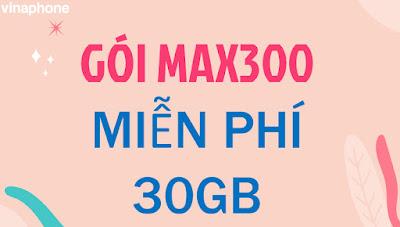 Cách Nhận 30 GB Data Miễn phí với Gói MAX300 Vinaphone