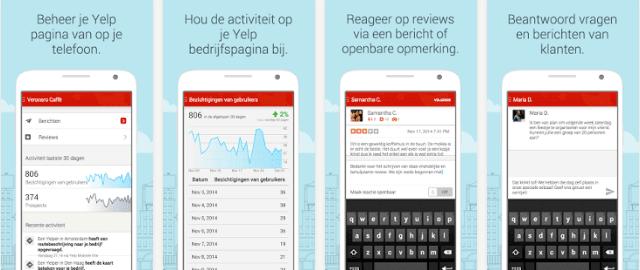 Yelp voor Zakelijke Accounts (Yelp Pro) App