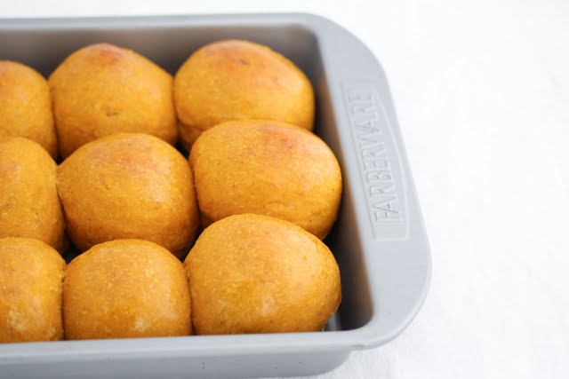 photo of rolls in a baking pan