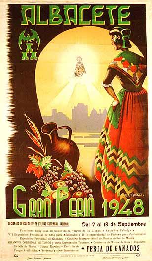 Cartel Feria Albacete 1948
